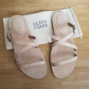 Eileen Fisher Strappy Slide Sandal size 8.5 NEW